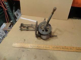 Vintage Hand Crank Grinder Blade Sharpener Cast Iron Antique Tool. Saw