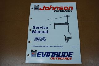 Johnson Evinrude Outboard 1991 Service Manual Electric Trolling Motor