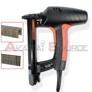 Electric Nail Gun 2 in 1 Brad Nailer & Staple Power Fastener