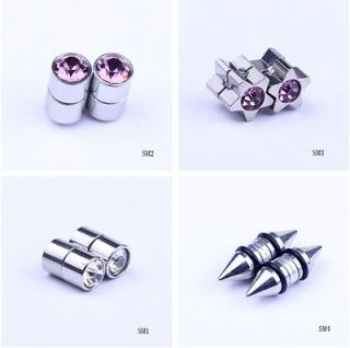 Round / Star Men Magnetic No Ear Hole Alloy Ear Clip Stud Magnet