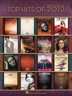 TOP HITS OF 2012 FOR PIANO VOCAL GUITAR SHEET MUSIC SONG BOOK