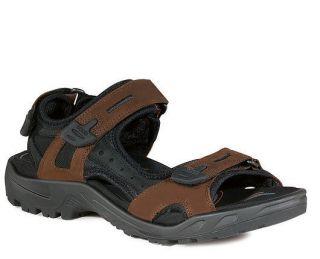 ECCO Mens YUCATAN Bison Brown/Black Nubuck Performance Sandals 069564
