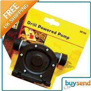 Electric Drill Powered Pump Water Pond Pool Tank Syphon