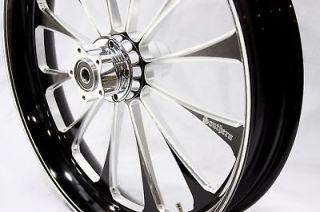 21 Black Contrast Wheel Rim FLHR FLHT 2010 2012 Harley Softail