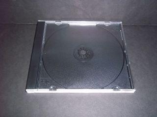 JEWEL CASES & BLACK TRAYS audio compact disc empty plastic case tray
