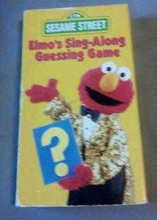 Sesame Street   Elmos Sing Along Guessing Game (VHS, 1996) RARE OOP