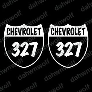CHEVROLET 327 SHIELD badge emblem decal sticker