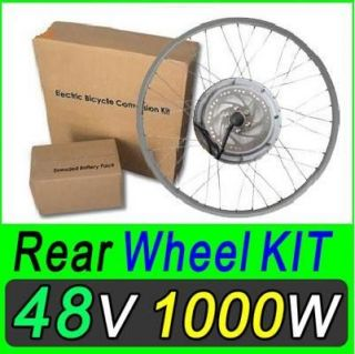 48V 1000W DISC Electric Bicycle Kit Hub Motor Scooters Conversion
