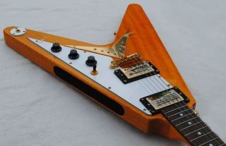 BEAUTIFUL Epiphone 1958 Korina Flying V Electric Guitar   Great