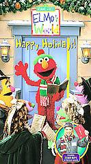 ELMOS WORLD   HAPPY HOLIDAYS (2002, VHS) SESAME STREET CHRISTMAS OOP