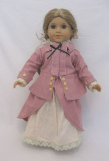 Doll Clothes Rose Riding Dress Gown Fits 18 American Girl Elizabeth