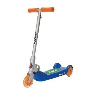 Junior Folding Kiddie Kick Scooter   Blue Exercise Three Wheel Design