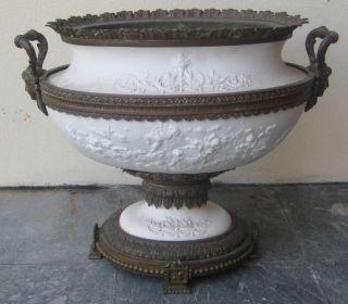 Barbedienne Bronze & Bisque French Centerpiece Bowl