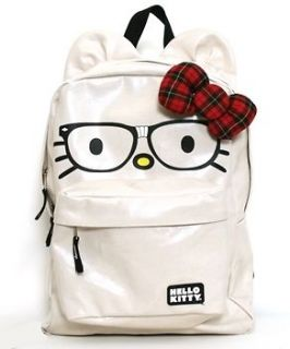 Hello Kitty Nerd Backpack with 3D Bow NWT Loungefly Full Size Glasses