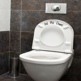Put Me Down   Humorous Toilet Seat Bathroom Sticker Wall Art Vinyl