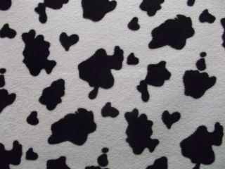 Fab and Funky Black & White Cow Animal Print Soft Polar Fleece