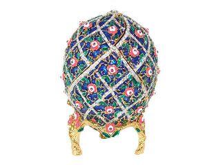 New Swarovski Crystal Blue Russian Floral Faberge Egg