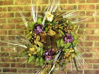 New Fall Wreath Hydrangea Autumn Flowers Door Wall Decor