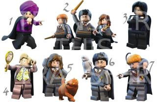 HARRY POTTER LEGO IRON ON T SHIRT FABRIC TRANSFER HERMIONE RON