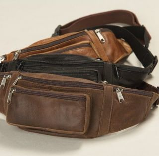 Leather CCW Gun Concealment/Concealed Carry SLIM LOCK WAIST/FANNY PACK