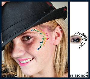 opean Body Art Leaf Design Face Paint Stencil Template Airbrush