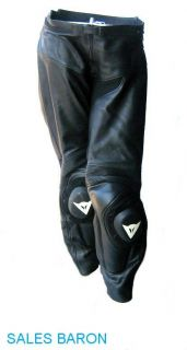 Dainese Black Size 56 Leather Motorcycle Racing Pants Motor Cycle Bike