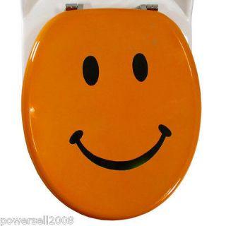 orange toilet seat