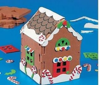 Gingerbread House Foam Christmas Craft Kit Kids Gift