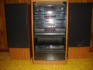 vintage mini component stereo system realistic mint condition. Black Bedroom Furniture Sets. Home Design Ideas