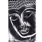 Exquisite Buddha Wall Panel, Hand Carved, Silvered Suar Wood, 39 h x