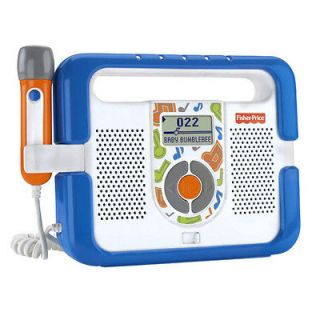FISHER PRICE KID TOUGH MUSIC PLAYER W/ MICROPHONE BLUE *NEW*