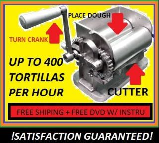 MANUAL MEXICAN CORN TORTILLA MAKER ROLLER MACHINE