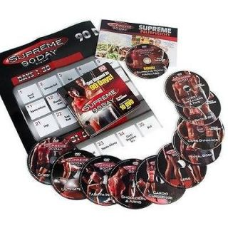 NWT SUPREME 90 DAY SYSTEM 10 DVD intense & insane WORKOUT WEIGHT LOSS
