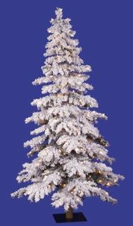 white flocked christmas tree in Artificial Trees