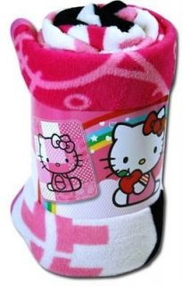 Hello Kitty fleece throw blanket soft New Sanrio bedding