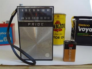Vintage Gas Pump Radio Pride Collectible Auto Memorabilia AM FM