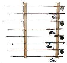 FISHING Rod WALL MOUNT Horizontal Storage RACK Hanger HOLDER Hold 8