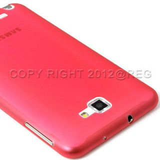THIN RED MATTE TPU GEL BACK CASE COVER FOR ATT SAMSUNG GALAXY NOTE
