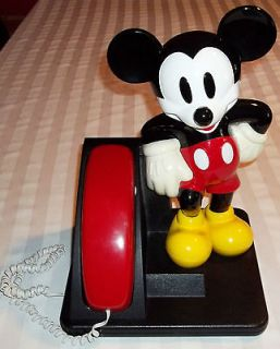 WALT DISNEY MICKEY MOUSE TELEPHONE BY AT&T 1995 WORKS GREAT GREAT