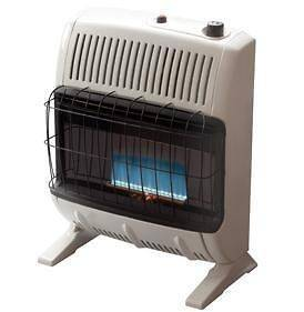 20K VENT FREE BLUE FLAME NAT GAS WALL SPACE HEATER ASHY