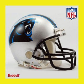 PANTHERS OFFICIAL NFL MINI REPLICA FOOTBALL HELMET RIDDELL (NEW 2012