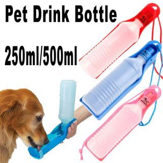 Foldable Pet Dog Cat Water Drink Bottle Dispenser Feeder Travel Bowl
