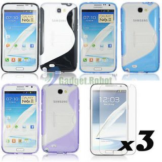 Case Cover+Screen Protector For. Samsung Galaxy Note 2 II N7100 GR