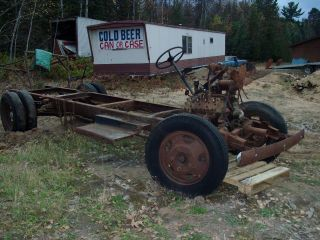 1938 1939 FORD 1 1/2 TON TRUCK FRAME WITH AXLES AND BRAKES