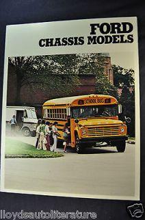 1979 Ford Trucks Chassis Models Folder Sales Brochure Mint Original