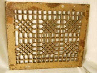 Vintage Cast Iron Floor Grate Furnace Flue Grate Floor Furnace Cover