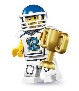 8833   Mini Figures Series 8   Football Player / Quarterback Minifig