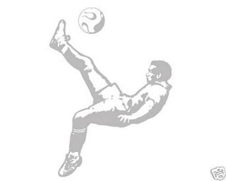 Applique Vinyl Sticker Soccer Player Kicker Boys Kids Room Art Decor