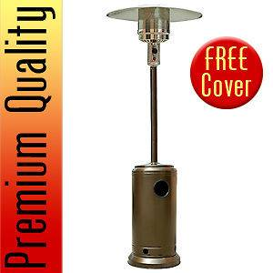 Hammered Bronze Outdoor Patio Heater Propane LP Gas Garden Deck Tall