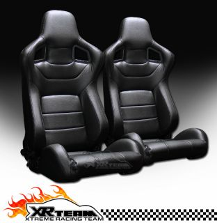 PVC Leather Reclinable Racing Seats+Sliders 11 (Fits Ford Expedition